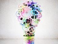 light bulb made of gears